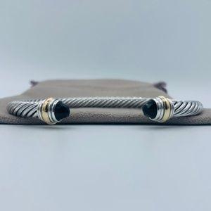 David Yurman 5mm Onyx & Gold Bracelet